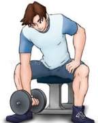 筋トレ:腕の前側(力こぶ)2