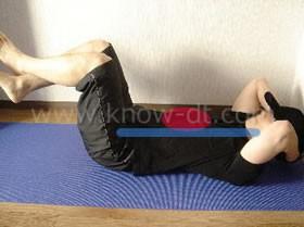 腹筋運動(クランチ) ステップ1 写真