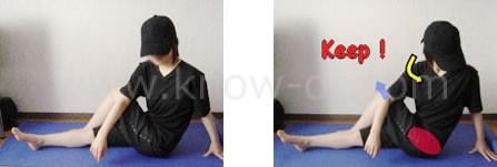 脚と腰のストレッチ