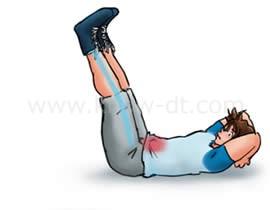 腹筋運動(レッグレイズ) ステップ1 イラスト